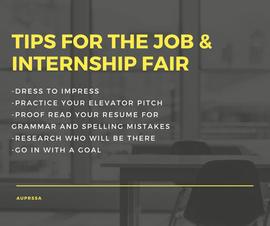 Job & Intern Fair tips Social Graphic