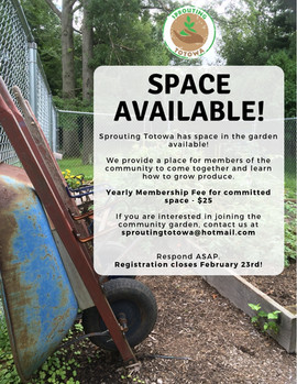 Sprouting Totowa Membership Flyer