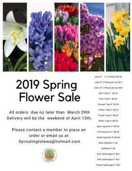 2019 Spring Flower Sale
