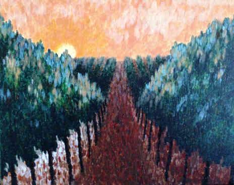 """""""Vineyard at Sunset"""""""