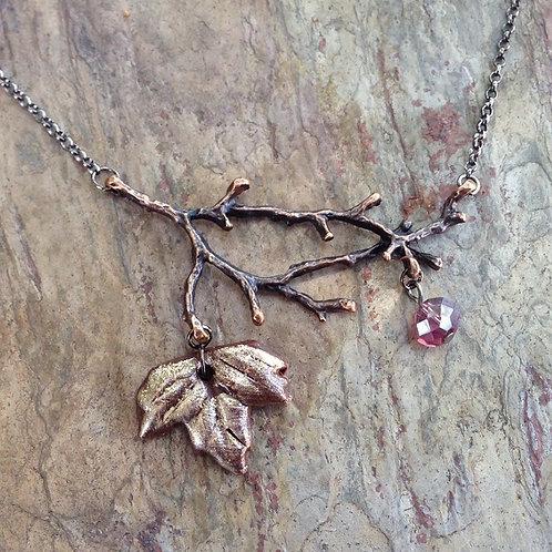 Amethyst Leaf & Twig
