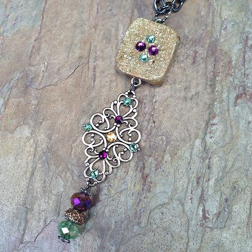 Merlot Filigree Mini Necklace
