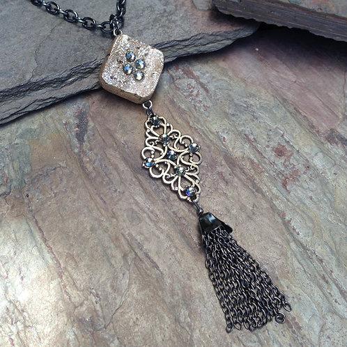 Filigree Tassel Mini Necklace