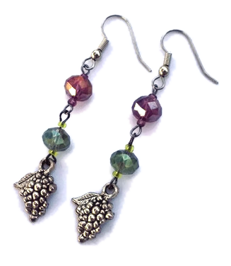 wine jewelry, grape jewelry, wine lovers gift, wine glass jewelry, unique handcrafted jewelry, wine-inspired jewelry, wine-themed jewelry, wine country gifts, grape jewelry, winery gifts, wine gifts, jewelry for wine lovers