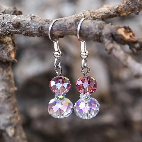 Merlot Crystal Earrings