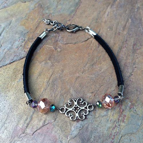 Rosé Scroll Bracelet