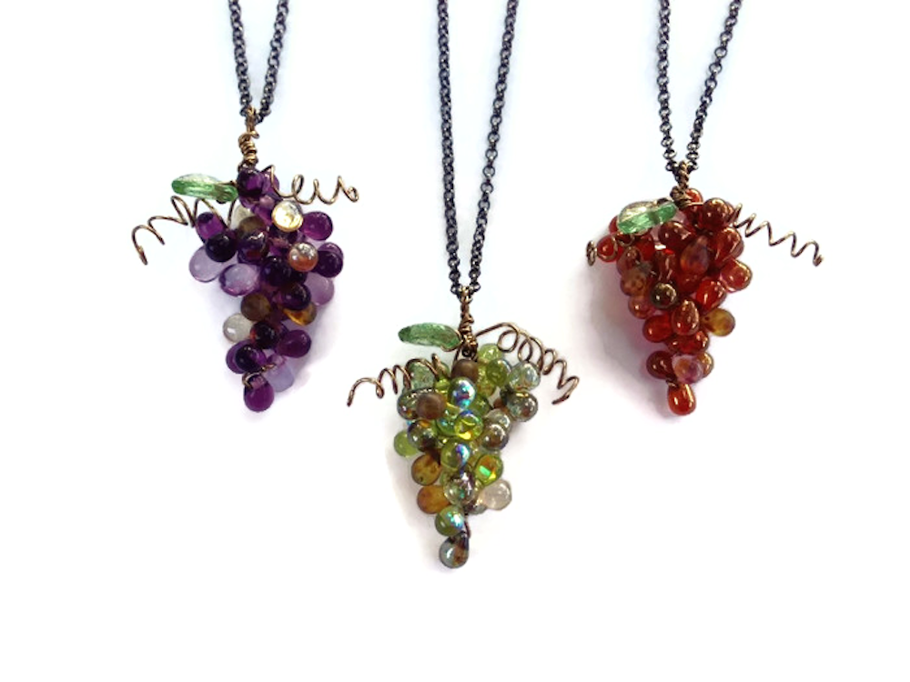 Nature's jewelry in grape cluster pendants