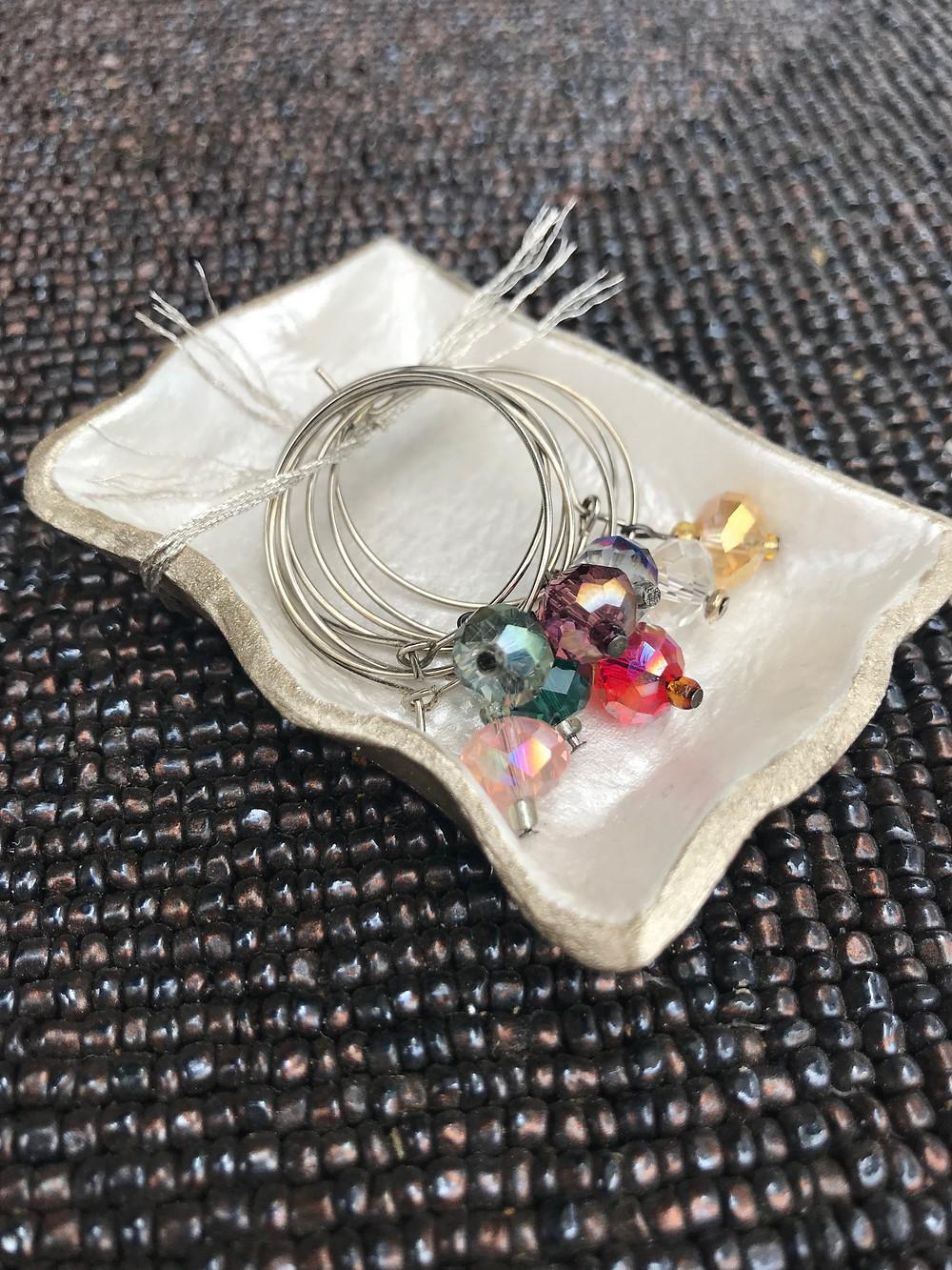 Jewelry storage that sparks joy, jewelry storage ideas, wine charm dish