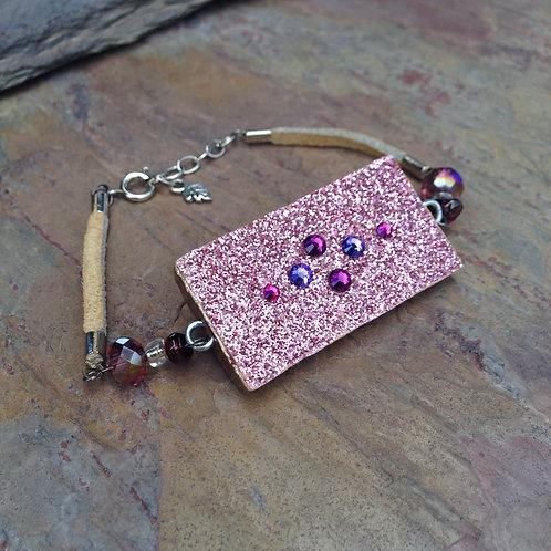 Pink Shimmer Bracelet
