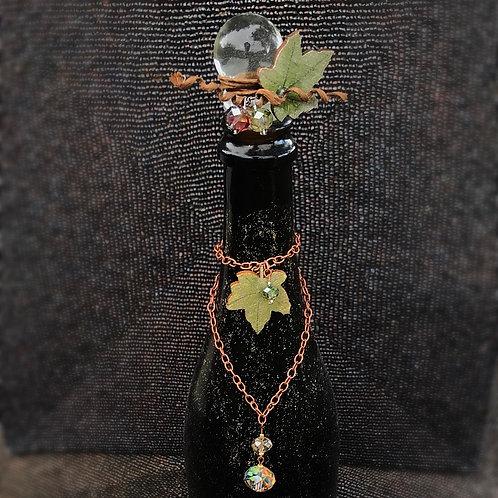 Grapevine Bottle Charm & Stopper Set