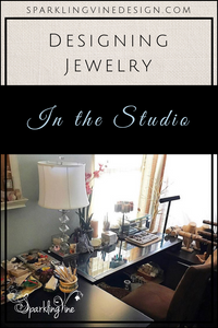 Jewelry designer in the studio