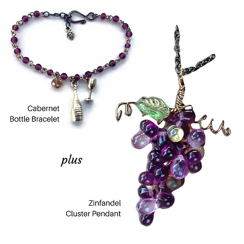 Grape Cluster & Bracelet Set