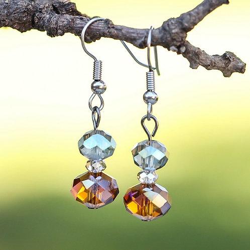 Cognac Crystal Earrings