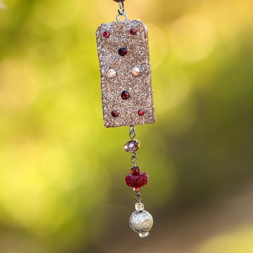 Burgundy Shimmer Necklace