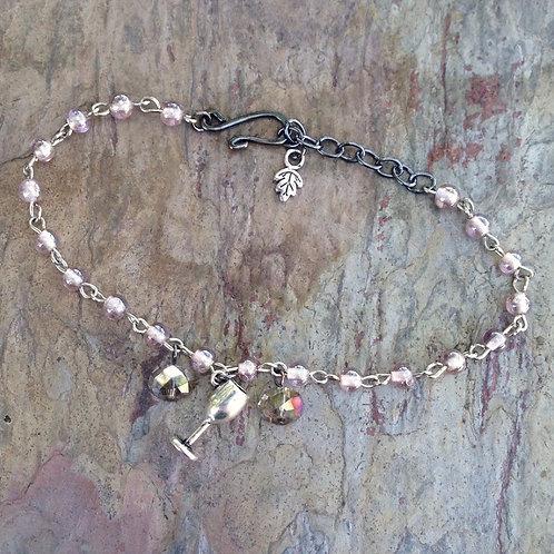 Lavender Glass Bracelet