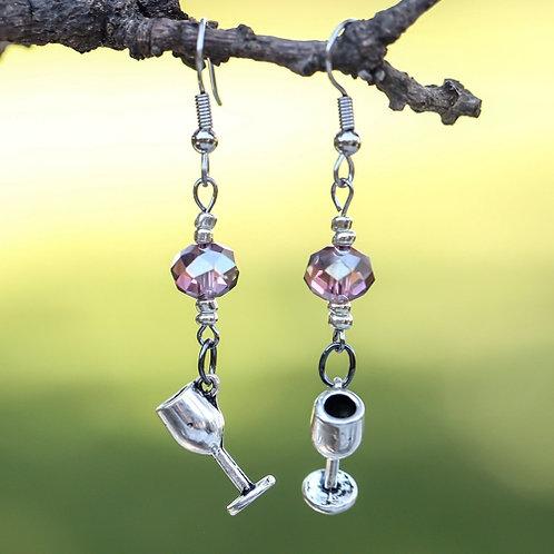 Amethyst Wine Earrings