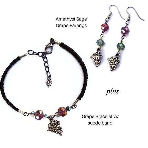 Grape Earrings & Bracelet Set