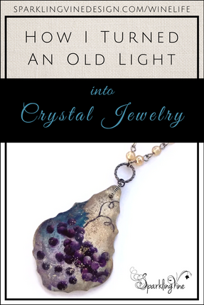 How I Gave an Old Light New Life as Crystal Jewelry
