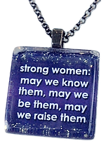 Inspirational jewelry with empowering women quotes