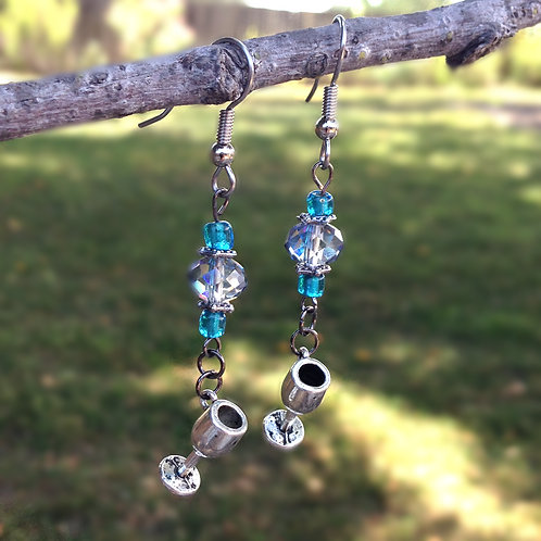 Turquoise Wine Earrings