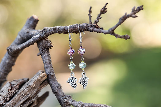 Dangle earrings and swarovski crystal jewelry
