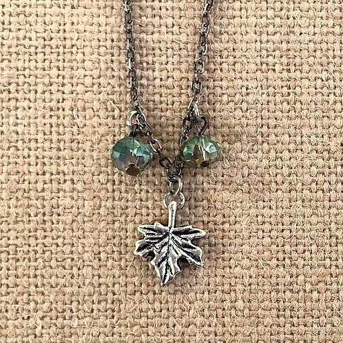Grape Leaf Charm Necklace