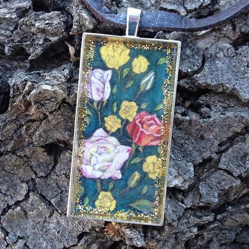 Bouquet Rec Pendant