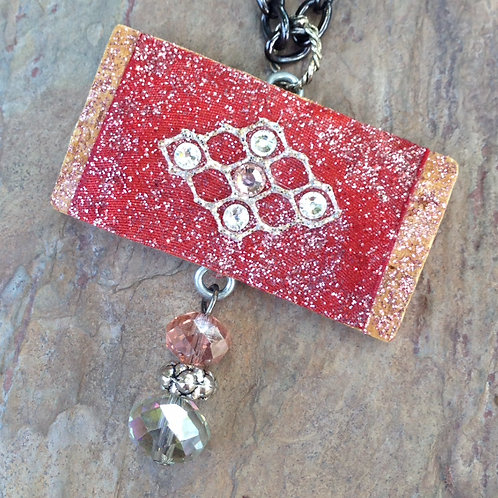 Red Medallion Necklace