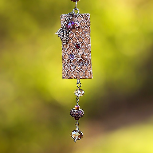 Mesh Grape Peacock Necklace