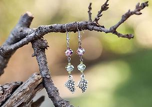 swarovski crystal earrings and drop earrings