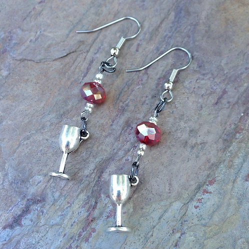 Cabernet Wine Earrings