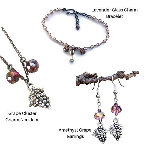 Grape Jewelry Gift Set