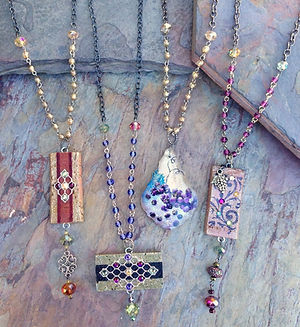unique necklaces and crystal statement necklace
