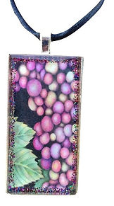 Purple necklace that is wearable art jewelry