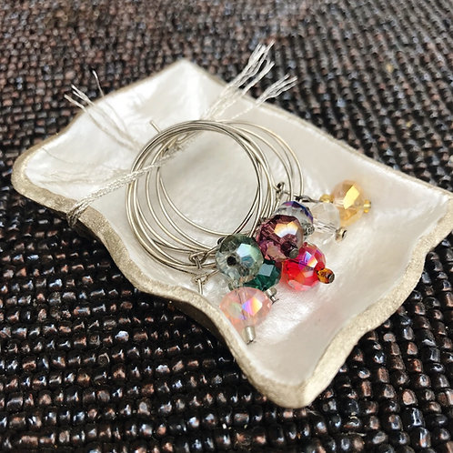 Wine Glass Charms & Charm Dish