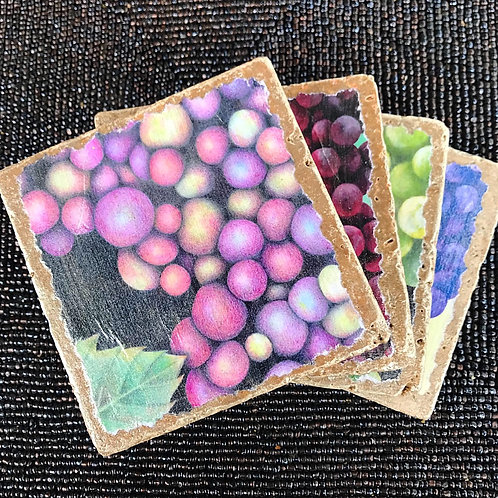 Grape Stone Coasters