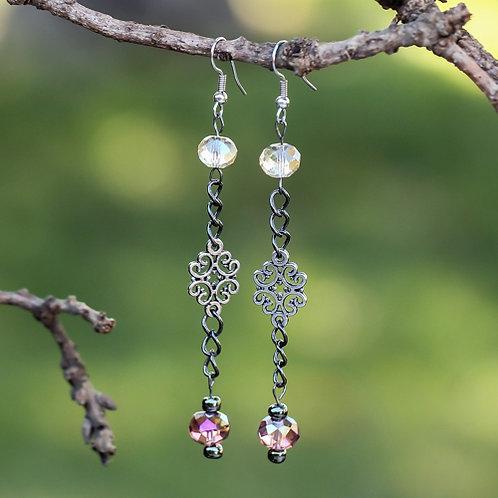 Scroll Chain Earrings