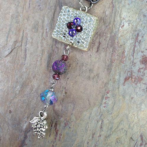 Mesh Purple Mini Necklace