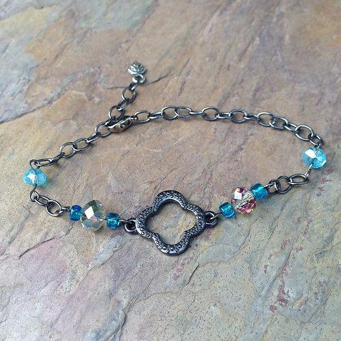 Teal Clover Bracelet