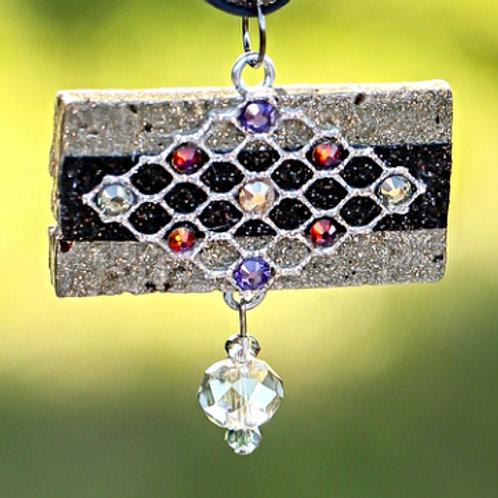 Medallion Black Necklace