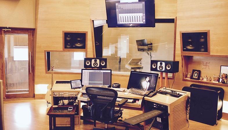 A Photo of the Control Room of Autotune Studio