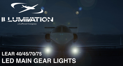 Lear 40/45/70/75 LED Main Gear Landing Lights