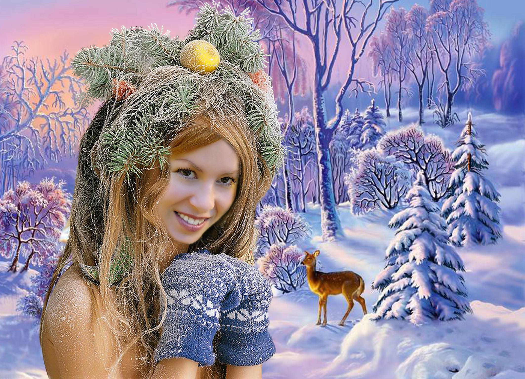 Зимние пейзажи красная рябина красивые фото насыщенного