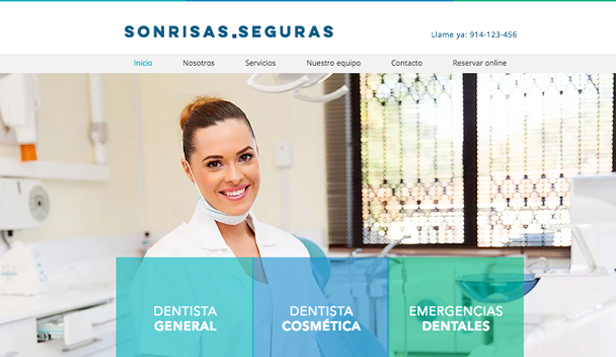 Bienestar y Salud website templates – Dentista