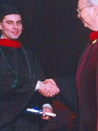 With Benjamin Crandall, Zion Bible Institute, Graduation (1999)