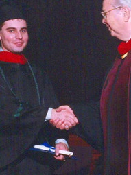 With Benjamin Crandall, Zion Bible Institute, Graduation (1999)
