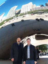 With Tomáš Halík, Chicago (2017)