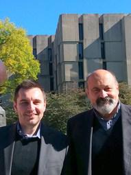 With Tomáš Halík, University of Chicago (2017)