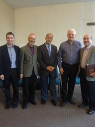 With Ernst Diehl, Roberto Miranda, Ján Lacho, Eldin Villafañe, Forum for Pastors and Church Leaders, Assemblies of God, Senec, Slovakia (2012)