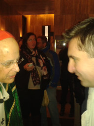 With Francis Cardinal George, Holy Name Cathedral, Chicago (2014)